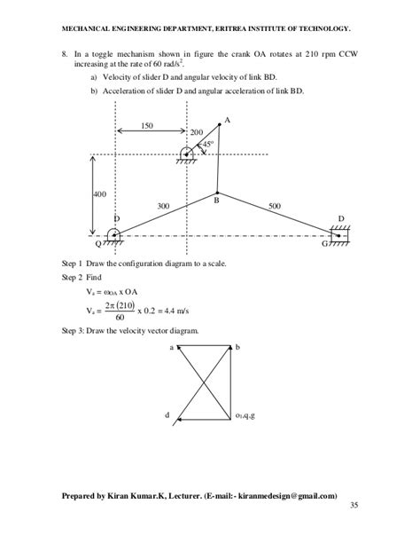 how to draw velocity and acceleration diagram velocity acceleration diagram four bar mechanism gallery