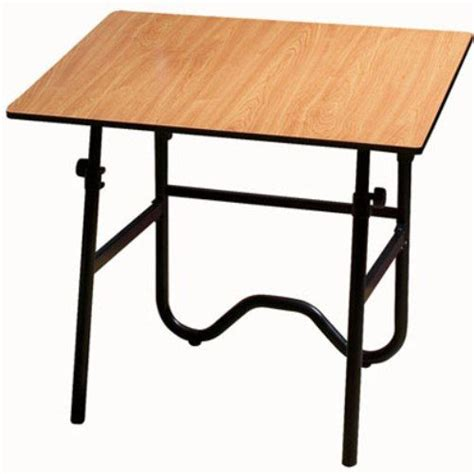 Fold Away Drafting Table Alvin Onx42 3wbr Contemporary Fold Away Drafting Height Table 30 Quot X 42 Quot Woodgrain Melamine Warp