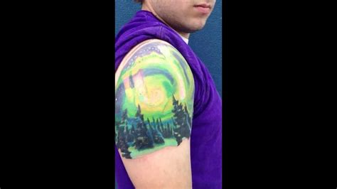 northern lights tattoo youtube