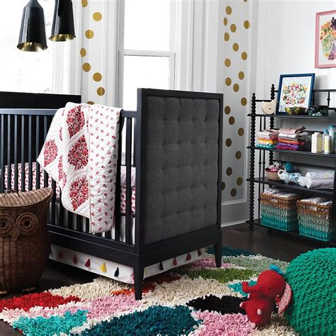 High End Baby Crib Tufted Crib From The Land Of Nod Decoist