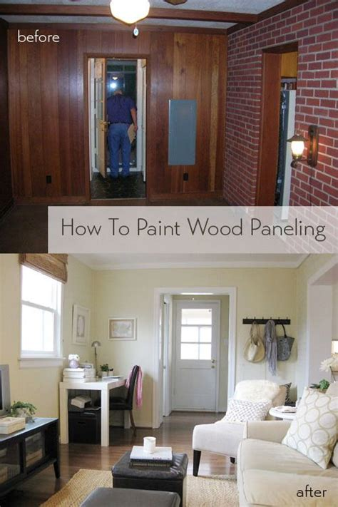 paint wood paneling wood paneling makeover
