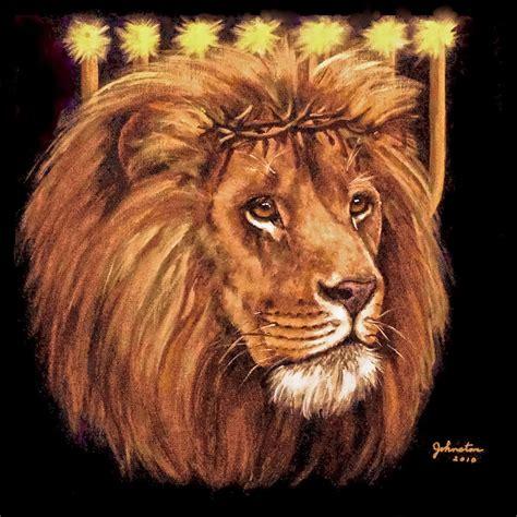 Black Red Duvet Cover Lion Of Judah Menorah Painting By Bob And Nadine Johnston