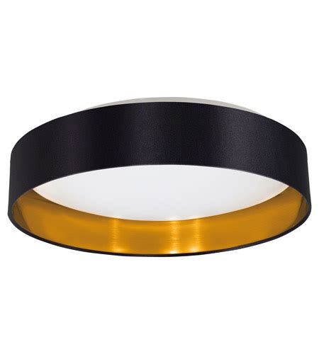 Black And Gold Ceiling Light Eglo 31622a Maserlo Led 16 Inch Black And Gold Flush Mount Ceiling Light