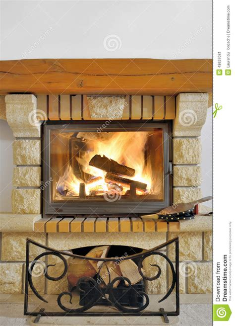 close up fireplace fireplace stock photo image 48637081