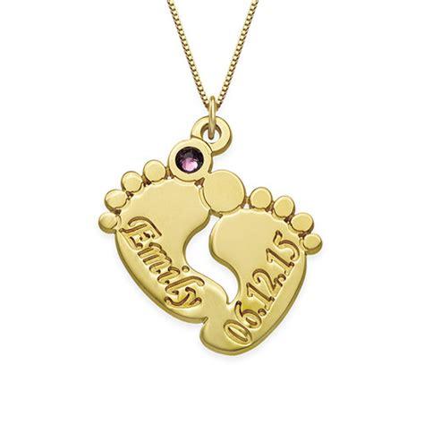 precio cadena de oro bebe collar de piecitos de beb 233 personalizado en oro de 14k