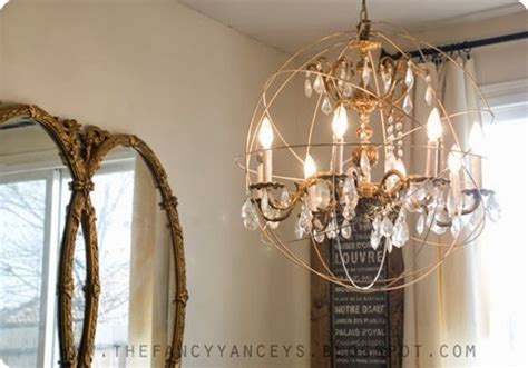 restoration hardware knock off lighting easy as pie orb chandelier
