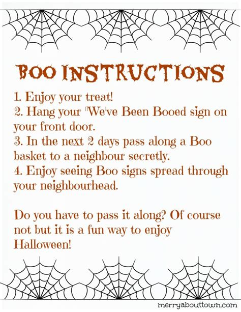 printable boo directions fun halloween printables boo your neighbors merry