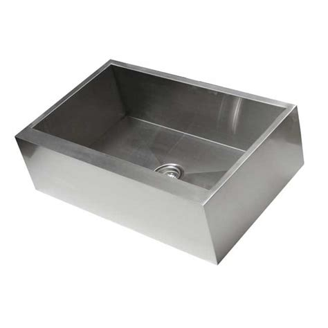 33 Inch Apron Sink 33 inch stainless steel flat front farm apron single bowl kitchen sink zero radius design