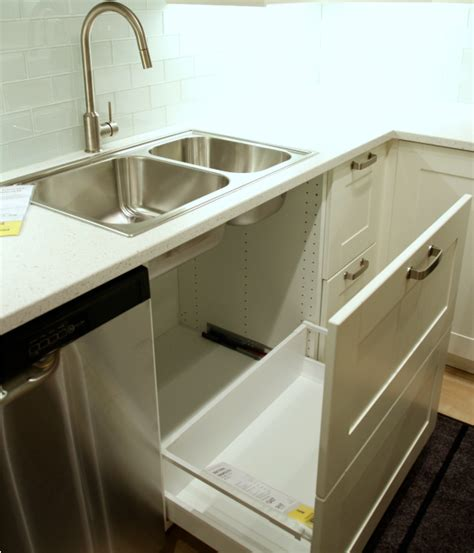 sink trash pull out diy pull out trash can in a kitchen cabinet amazing idea