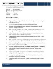 accounting staff description freewordtemplates net
