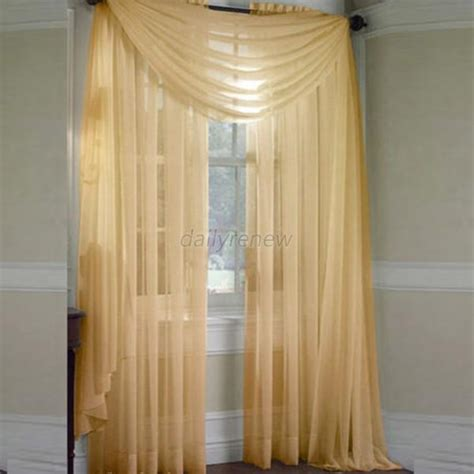 multi colored sheer curtains door room voile window curtain sheer panel drapes scarfs