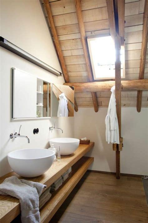 badezimmer ideen holz une salle de bain sous pente ou sous combles en 52 photos