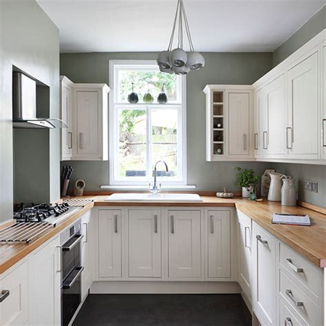 Green Country Kitchen White And Green Country Kitchen Decorating Ideal Home
