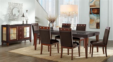 Rooms To Go Dining Table Sets Sofia Vergara Savona Chocolate 5 Pc Rectangle Dining Room Dining Room Sets Wood