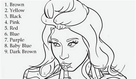 Nicki Minaj Coloring Pages Nicki Minaj Coloring Pages