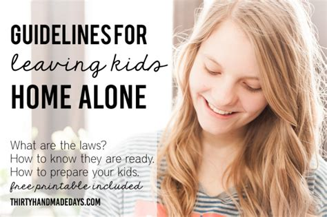 what age can stay home alone guidelines printable