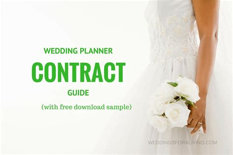Wedding Planner Contract by Free Sle Wedding Planner Contract