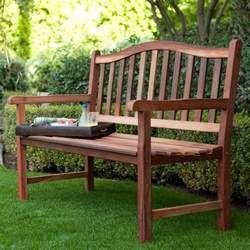Outdoors Benches Belham Living Richmond Curved Back 4 Ft Outdoor Wood