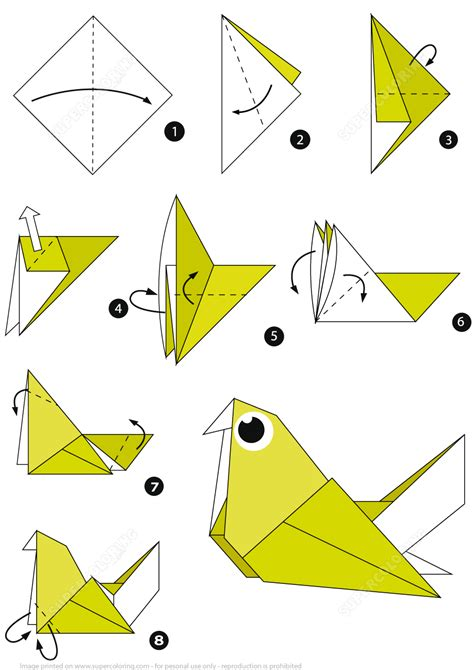 Origamis Step By Step - how to make an origami pigeon step by step