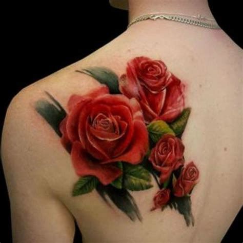 red roses tattoo 2 rose back tattoo on tattoochief com
