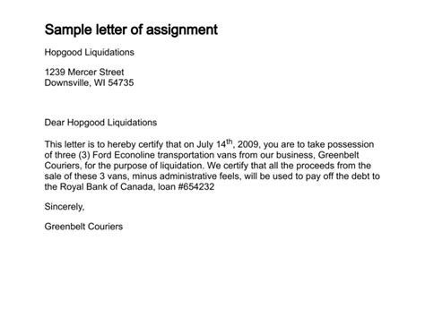 Business Letter Assignment Pdf sle business letter assignment sle business letter