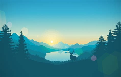 wallpaper nature mountains forest landscape game