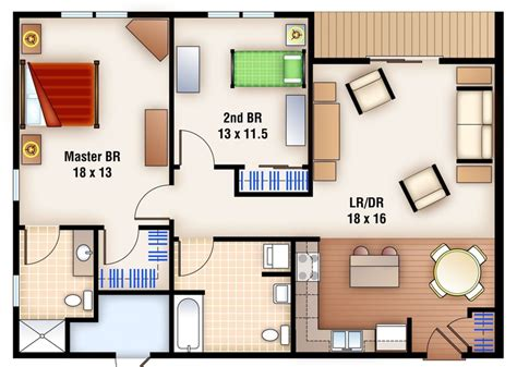 modern 2 bedroom apartment floor plans impressive bedroom apartment floor plan style pool fresh