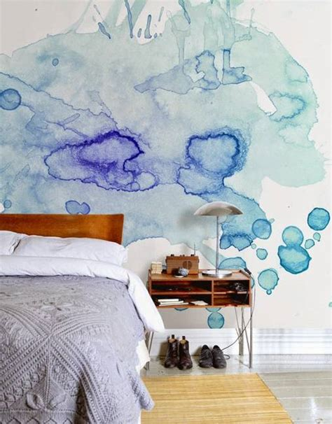 20 modern wall painting ideas watercolor and ombre painting effects