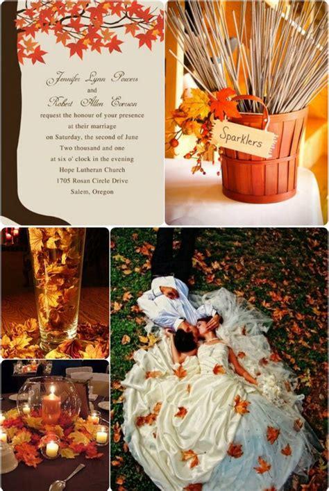 fall leaves wedding decorations fall wedding invitations ideas 2013