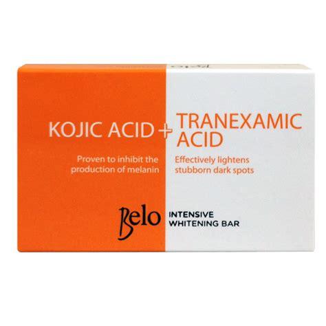 Wash Whitening Acid belo intensive whitening bar kojic acid tranexamic acid