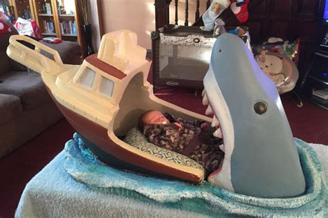 baby shark jaws it s eating my son sweet jaws themed baby bed geekologie
