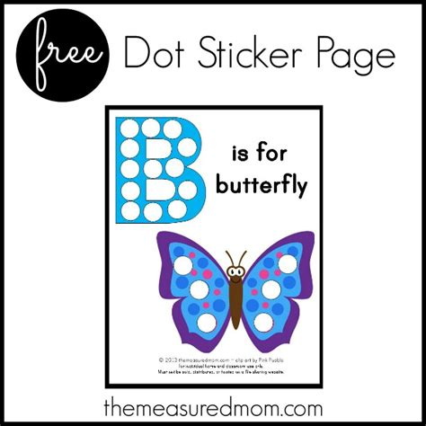 Playette 2 In 1 Support Butterfly Dot b is for butterfly free printable the measured
