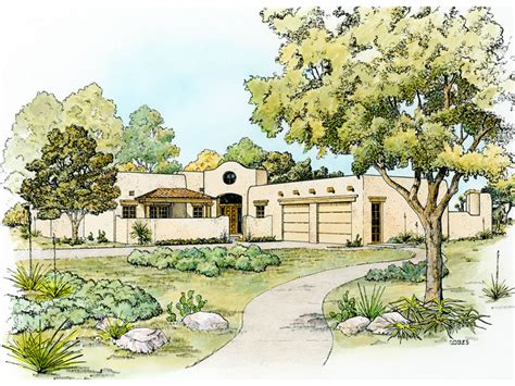 bosswood southwestern style home plan 095d 0044 house