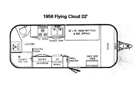 airstream travel trailer floor plans the vintage airstream flying cloud 22 foot travel trailer