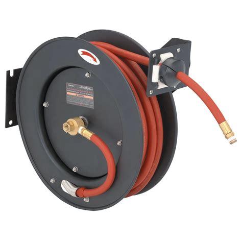 Air Hose Reel 8 M Plastik Top Quality Perkakas Angin Selang 50 ft retractable hose reel with 3 8 quot air hose