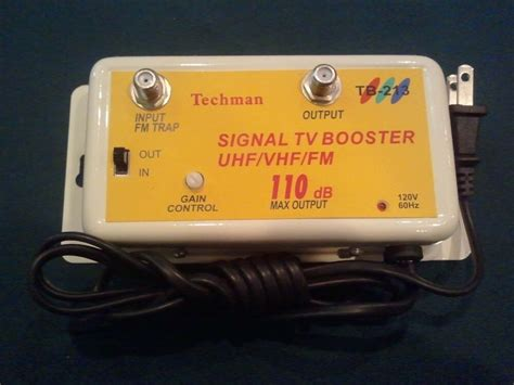 new 36 db cable tv antenna booster signal lifier 36db hdtv usa free ship ebay