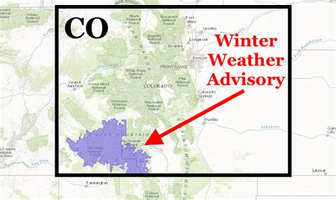 noaa weather forecast winter noaa winter weather advisory for colorado tonight