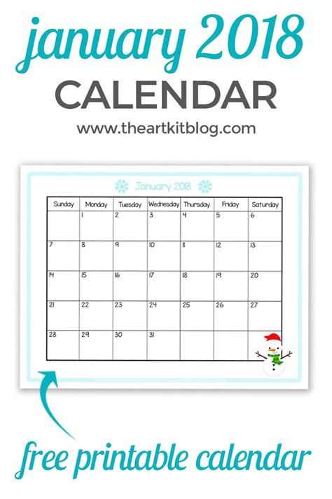 2018 free printable monthly calendar on sutton place free calendar printable great for kids january 2018