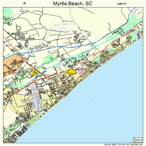 South Myrtle Beach Sc Map | myrtle beach sc county