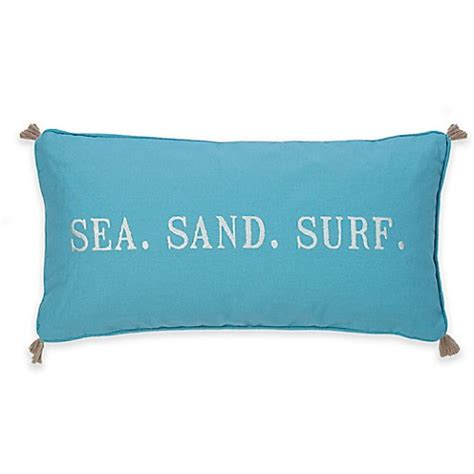 bed bath and beyond maui levtex home blue maui quot sea sand surf quot oblong throw pillow