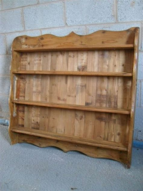 Wall Hanging Plate Rack by Pine Wall Hanging 4 Shelf Plate Rack 193614