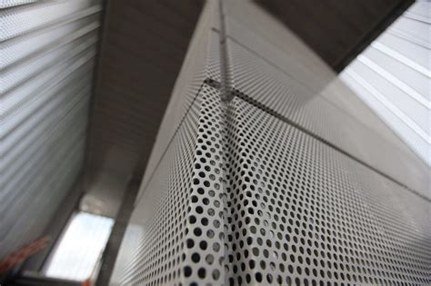 metal curtain wall perforated metal curtain wall graepel perforators