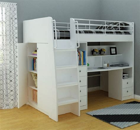single bunk bed with desk neptune king single loft bunk with desk storage