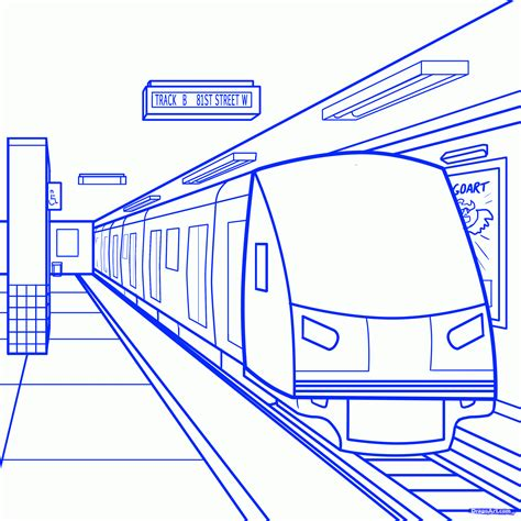 How To Draw A Station Step By Step