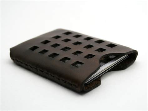 Handmade Leather Card Holder - business card holder gadgetsin