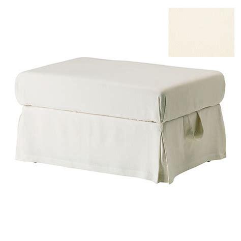 white ottoman slipcover ikea ektorp footstool slipcover ottoman cover stenasa