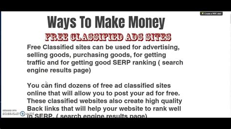 How To Post Ads Online To Make Money - how to make money with classified ads howsto co