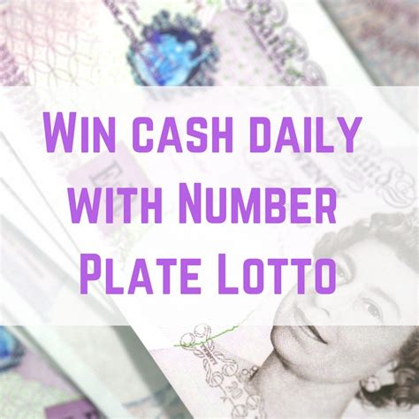 Win Money Daily - win cash daily with number plate lotto emmadrew info