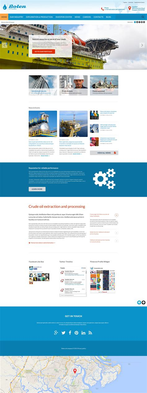Oil Company Website Template 52890 And Gas Company Website Template