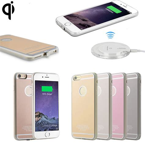 Iphone Wireless Charger Qi Wireless Charging Receiver Charger Gel Back For Apple Iphone 6 7 8 Plus Ebay